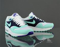 Nike WMNS Air Max 1 – White / Mint Candy - Obsidian (Another Look) | KicksOnFire