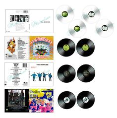 """Miniature Beatles Albums and Records 1""""X1"""" Printable for Dollhouse * Scrapbook * Greeting Cards * etc."""