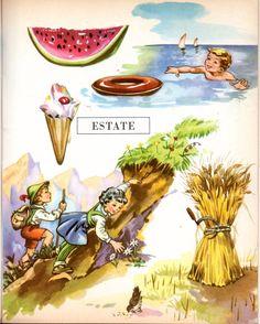 Sono parecchi i libri di lettura degli anni 50 che sono illustrati dai nostri beneamati.Quasi maii loro nomi vengono riportati.....bastan... Vintage Children's Books, Vintage Posters, Italian Lessons, All Languages, Italian Language, Learning Italian, Painting Inspiration, Childrens Books, Nostalgia