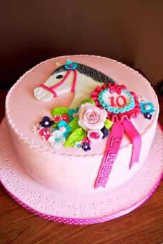 11 year old horse cake Horse Birthday Parties, Themed Birthday Cakes, Birthday Cake Girls, Themed Cakes, Horse Birthday Cakes, 10th Birthday Cakes, Birthday Ideas, Cupcakes, Cupcake Cakes