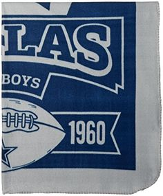 86a2fe0d9 NFL Dallas Cowboys Marque Printed Fleece Throw 50inch by 60inch -- Find out  more about