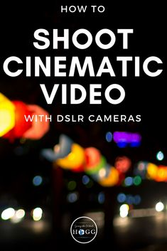 Got a DSLR camera but not sure how to use it to shoot awesome looking cinematic video? Check out this complete guide covering the equipment you need, the best camera settings to use and filming techniques to nail that film-look in your next video Canon Camera Tips, Canon Camera Models, Camera Hacks, Best Camera, Canon Cameras, Camera Lens, Camera Rig, Leica Camera, Film Camera