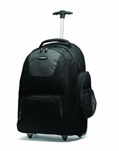 Samsonite Wheeled Backpack with Organizational Pockets, Black/Charcoal, One Size Laptop Backpack, Travel Backpack, Travel Bags, Fashion Backpack, Backpack With Wheels, Skate Wheels, Music Headphones, Luggage Accessories, Camping And Hiking