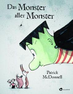 Die drei kleinen Monster, haben den lieben langen Tag nichts Besseres zu tun, als sich zu streiten, zu knuffen und zu puffen und finsterste Gedanken zu spinnen. Eines Tages aber wird ihnen das zu langweilig und sie erschaffen ein Monster, das noch viel fieser ist als alle drei zusammen. Das jedenfalls war der Plan... Selten waren Monster so liebenswert und knuddelig wie in diesem hinreißenden Bilderbuch. Patrick McDonnell, Das Monster aller Monster. Aladin Verlag. Ab 4.