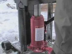 Manual Foot Operated Log Splitter - YouTube