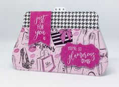 Handbag Card Decorated With Fabulous Fashionista Collection Designed By Julie