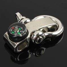 High quality Adjustable  U Shape Anchor Shackle Outdoor Survival Rope Paracord Bracelet Buckle with mini for Compass