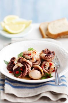 Use fresh octopus for this stunning chilli and lemon combo! It's perfect for your Australia Day barbecue. Australian Recipes, Australian Food, Weekly Recipes, Australia Day, Seafood Dishes, Meals For The Week, Meal Ideas, Octopus, Barbecue