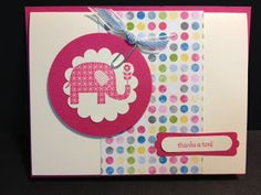 I had gotten this card from Terri. She had made it for one of her FABULOUS Stamp-a-Stacks and she had made a sample for me because I was...