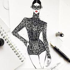 Megan Hess Illustration lineas simples, sin sombra, tematica, detalle chic, glamour, el mundo al que te lleva, actitud
