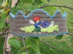 Needle Felted Waldorf Crown with Fairy & Snail by FeltPath on Etsy, $20.00