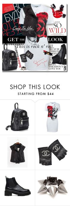 """Rocker Chic"" by lacas ❤ liked on Polyvore featuring Love Quotes Scarves, McQ by Alexander McQueen, Walter Steiger, Chanel, Balmain, rockerchic and rockerstyle"