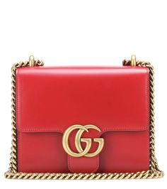 GUCCI Gg Small Marmot Leather Shoulder Bag. #gucci #bags #shoulder bags #leather #lining #