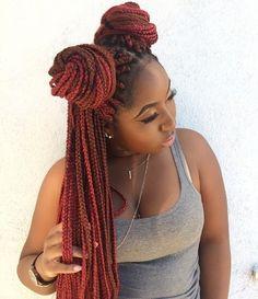 145 Ideas de Peinados con Trenzas Africanas - Peinadoes