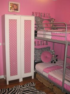 love this wardrobe decorating for a girls room