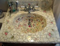 mosaic tile designs for sinks