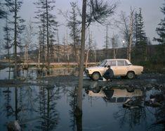 Esko Männikkö & Pekka Turunen, Untitled (from the series 'PEMOHT'), / C-print framed by the artist, 67 x 85 cm, (Cleaning car)