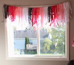 Pink ribbon window banner