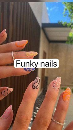 Funky Nails, Edgy Nails, Stylish Nails, Swag Nails, Neon Nails, Simple Acrylic Nails, Cute Acrylic Nail Designs, Best Acrylic Nails, Spring Nails