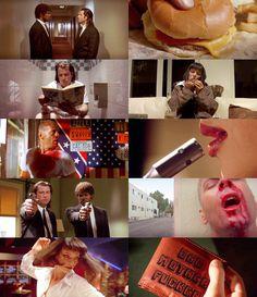 Pulp Fiction Quentin Tarantino Pulp Fiction, Film Pulp Fiction, Love Movie, Movie Tv, Natural Born Killers, Marvin, Movie Shots, Great Films, Film Aesthetic