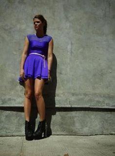 ustrendy, Purple Twilight,  Dress, purple  sweetheart  tiered skirt  party, Chic