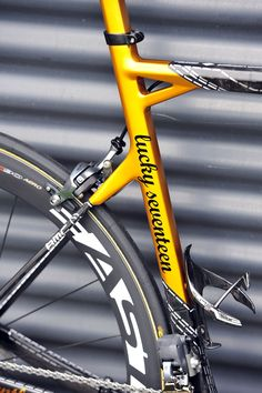 George Hincapie's special edition BMC for his 17th Tour de France in 2012  via http://velonews.competitor.com/
