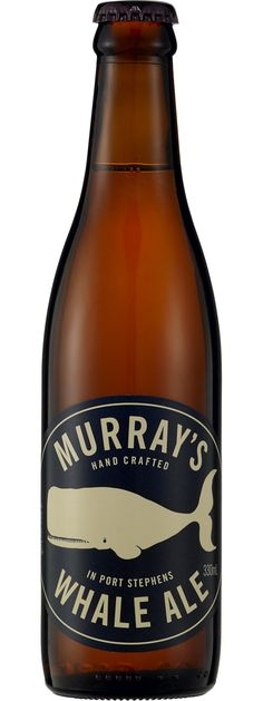 Murray's Whale Ale One of the only wheat beers that I will drink, but not often. Beer Packaging, Beverage Packaging, Packaging Design, Craft Bier, Craft Beer Labels, Beer Label Design, Wheat Beer, Beer Brands, Brew Pub