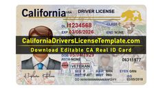 CALIFORNIA DRIVER LICENSE TEMPLATE PSD NEW 2021. Download USA CA DL Fresh New Easy Download CALIFORNIA DRIVER LICENSE TEMPLATE PSD NEW 2021 Free Bingo Template, Pamphlet Template, Banner Template, Real Id, Body Map, Photograph Album, Best Templates, California Usa, How To Introduce Yourself
