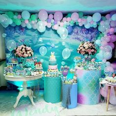Advertisement - Mermaid Party Supplies Birthday Decorations for Girl's Party and Baby banner net Mermaid Theme Birthday, Little Mermaid Birthday, Little Mermaid Parties, Mermaid Party Decorations, Birthday Party Decorations, 1st Birthday Parties, Creations, Party Ideas, Baby Shower