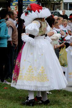 National costume of Haná region (the Czech Republic) Folk Costume, Costumes, European Countries, Beautiful Patterns, Czech Republic, Traditional Outfits, Flower Girl Dresses, Culture, Wedding Dresses