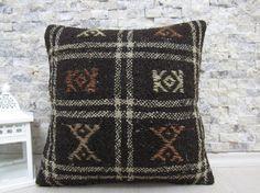 16x16 kilim pillow turkish pillow bohemian pillow 16x16 handmade kilim pillow decorative pillow turkish pillow tribal pillow throw pillow