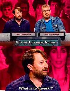 David Mitchell, Big Fat Quiz of the Year. English Comedy, British Comedy, Mitchell And Webb, David Mitchell, Movie Facts, Funny Facts, Phill Jupitus, Mock The Week, Jack Whitehall
