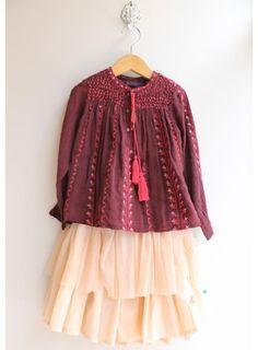 Purple embroidered blouse - Antik Batik - Via Pigve