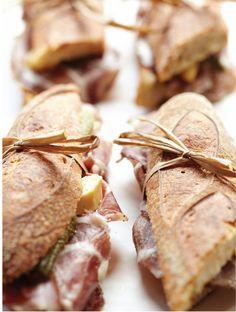 Sandwich, Bien Cuit, NY, via Sweet Paul Magazine Picnic Sandwiches, Wrap Sandwiches, Delicious Sandwiches, Cuisine Diverse, Sweet Paul, Snack Recipes, Snacks, Kitchen Recipes, Yummy Food