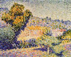 The Pink House, huile sur toile de Henri Edmond Cross (1856-1910, France)
