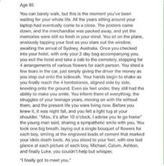 Credit to whoever wrote, I'm actually crying <<<<< OMG IM BAWLING<<<<WHY WOULD SOMEBODY DO THAT..*curls up into little ball and cries*