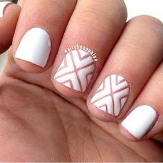 My original x nails but cutout, matte and white