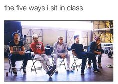 I almost always sit like Louis!! Haha