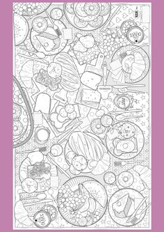 Supersized Colouring Picture: Perfect Picnic