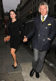 Supporting the family: Paul Weller and wife Hannah Andrews headed to Nobu in Mayfair on Sunday night to watch daughter Leah perform