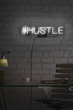20x4 Hustle Neon Sign Neon Sign