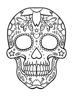 free skulls day of the dead coloring pages - Free Pages To Color