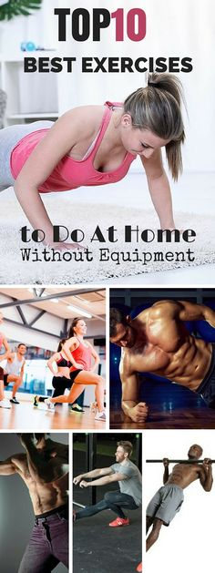 Check out the best exercises to do at home without equipment! #fitness