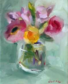 """Fresh Cut 2"" | ORIGINAL, Expressive Flowers Serie - Donna Downey Studios Inc"