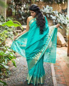 47f6df5f4c1c1c #saree Saree Styles, Cotton Silk, Saree Blouse, Kerala, Sarees, Festive