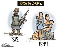 Know the enemy, John Cole,The Scranton Times-Tribune,ISIS, Syrian refugees, Paris attacks, Syria, France, GOP