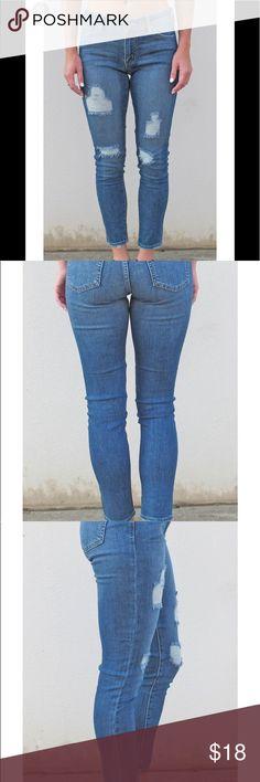 9b28bdc4eb56 JBD MIDRISE SKINNY DISTRESSED JEAN NWT JUST BLACK DENIM Jeans Skinny Black  Denim Jeans