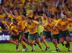 421f4a776 Socceroos qualifying for World Cup after penalty shoot out v Uruguay at  Homebush