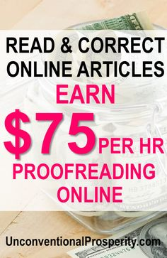 How to Start Proofreading as a Side Hustle - Unconventional Prosperity Make Money Fast, Make Money From Home, Earn Extra Money Online, Proofreader, Work From Home Jobs, Money Tips, Money Hacks, Online Jobs, Healthy Weight Loss