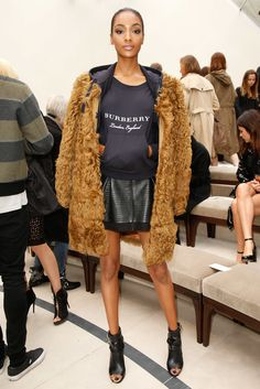 Jourdan Dunn in the front row at Burberry Spring 2016